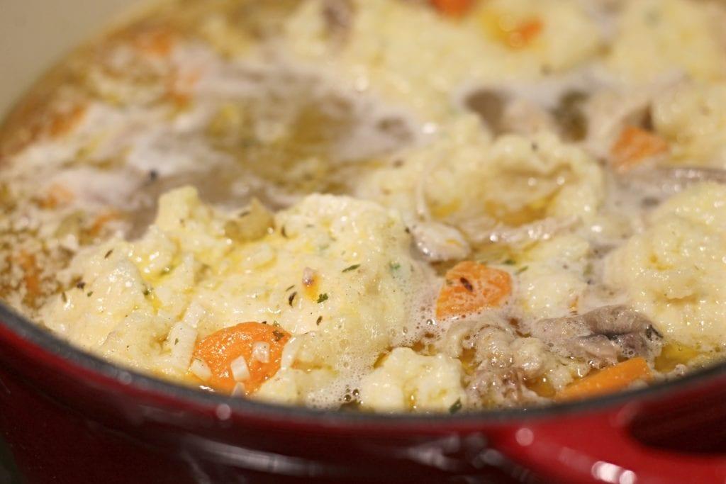 Chicken and Dumplings in Dutch Oven