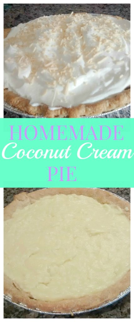 Coconut Cream Pie- This ultra creamy pie is made from scratch with a delicious custard filling and coconut whipped cream to top it all off!