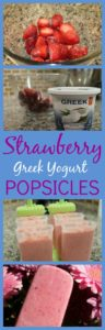 Strawberry Coconut Greek Yogurt Popsicles