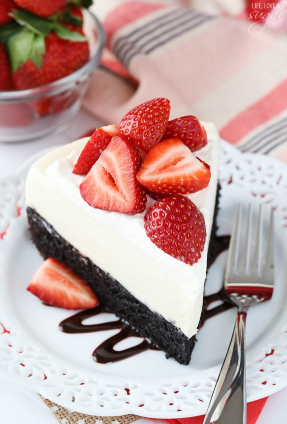 Strawberry-Brownie-Cheesecake