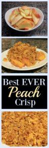 The Best EVER Peach Crisp Recipe
