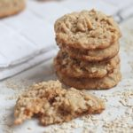 Stack of Oatmeal Peanut Butter Cookies