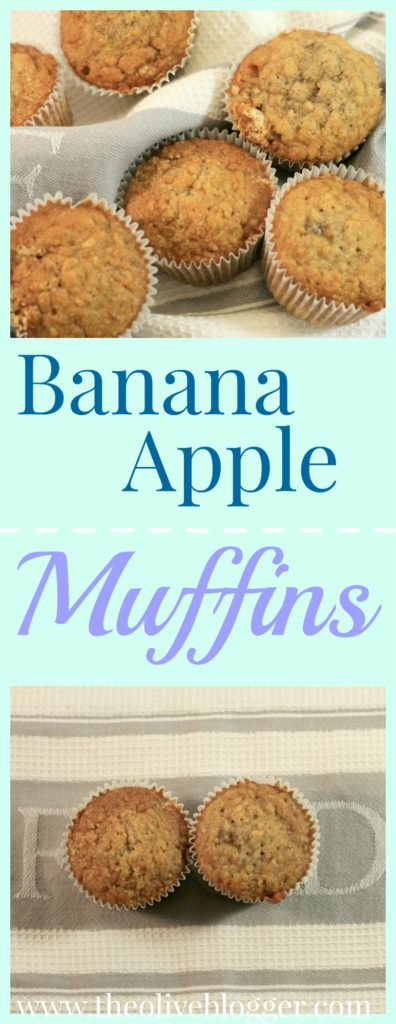 Banana Apple Muffins - A delicious and healthy muffin recipe that is loaded with fruit, flavor and a hint of spice! Super easy to make muffins that use a banana bread base to create a new family favorite!