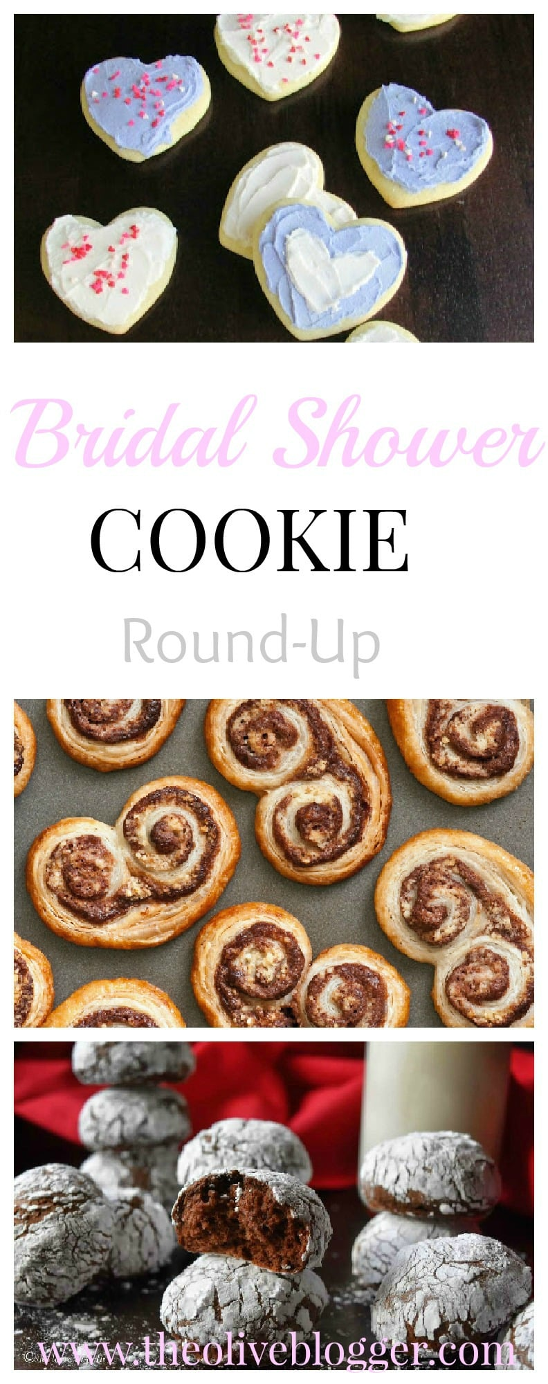 A fun round-up of cookie recipes for bridal showers! Featuring both classic cookies and new favorites, there is a cookie for everyone!