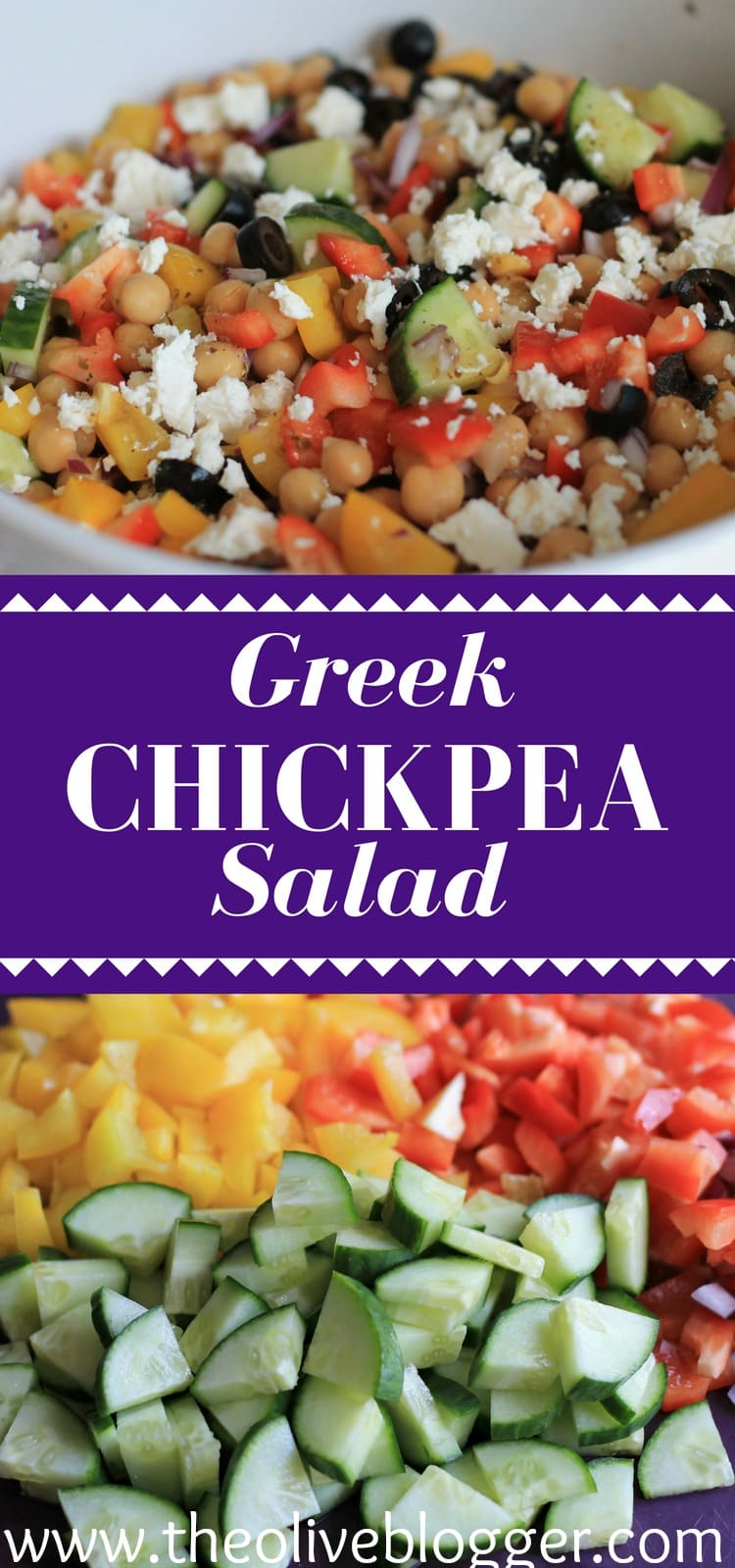 Greek Chickpea Salad - A delicious and SUPER EASY salad that is perfect for summer entertaining!