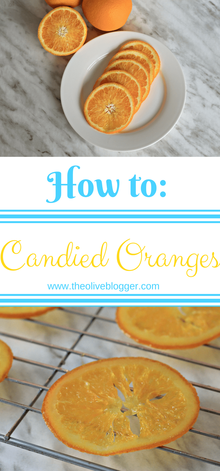 Candied Oranges - a simple how-to for candying citrus fruit! Perfect for topping cakes and desserts, or to enjoy on their own. #CandiedOranges #CandiedFruit #CandiedCitrus