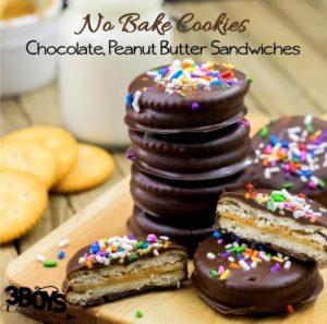No-Bake-Chocolate-Peanut-Butter-Sandwich-Cookie
