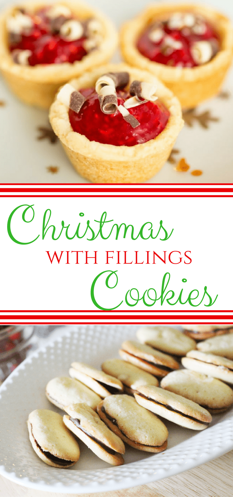 Cookies with fillings, you know the ones (think ganache, caramel, jams etc!) delicious little treats that can be added to your Holiday cookie swap! #ChristmasCookies #CookieSwap #CookieRecipes