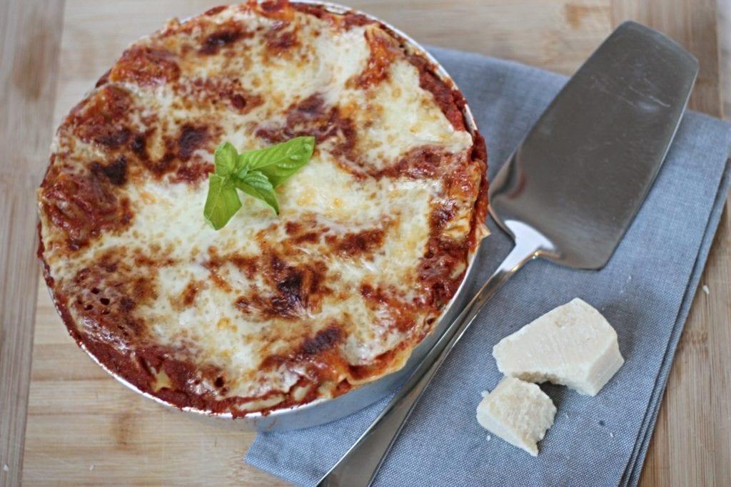 Finished Pressure Cooker Lasagna