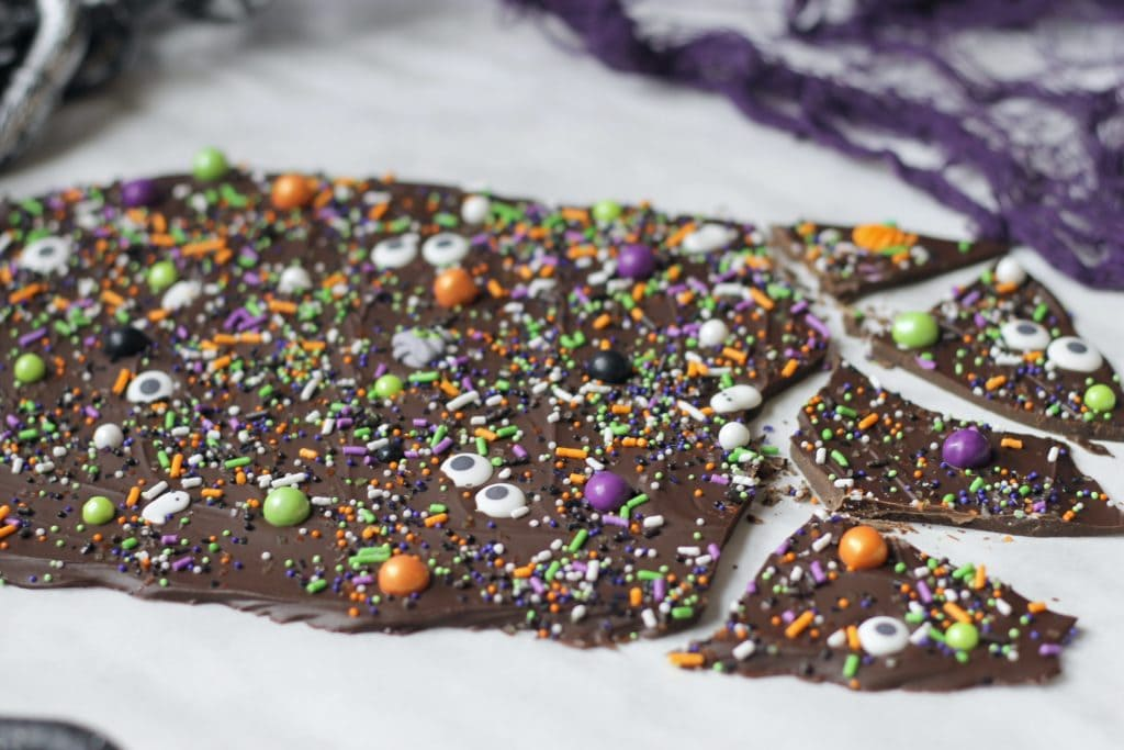 Spooky Chocolate Bark Recipe