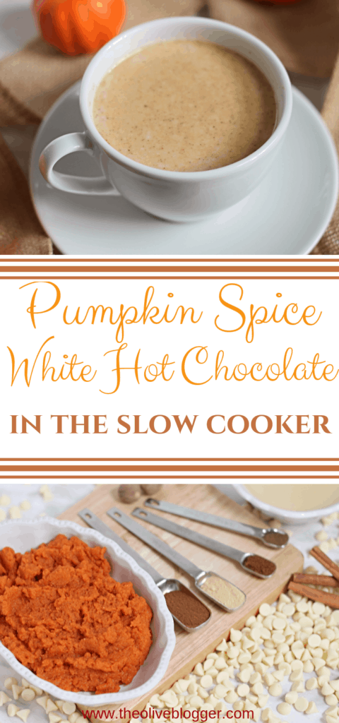 Slow Cooker Pumpkin Spice White Hot Chocolate Recipe
