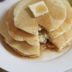 Syrup drizzled Fluffy Pancakes