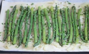 Asparagus and Chives on puff pastry