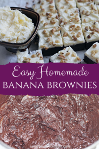 Chocolate Banana Brownies Pinable Image