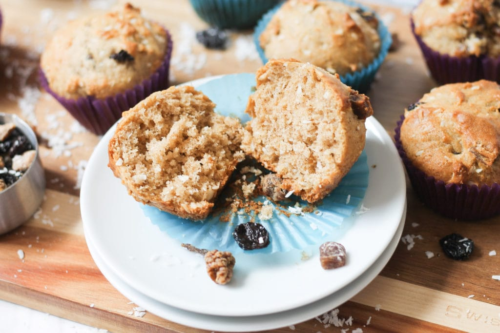 Fresh baked Berry Muffins on plate