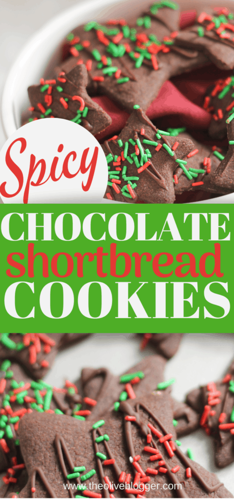 Spicy Chocolate Shortbread Cookie Stars