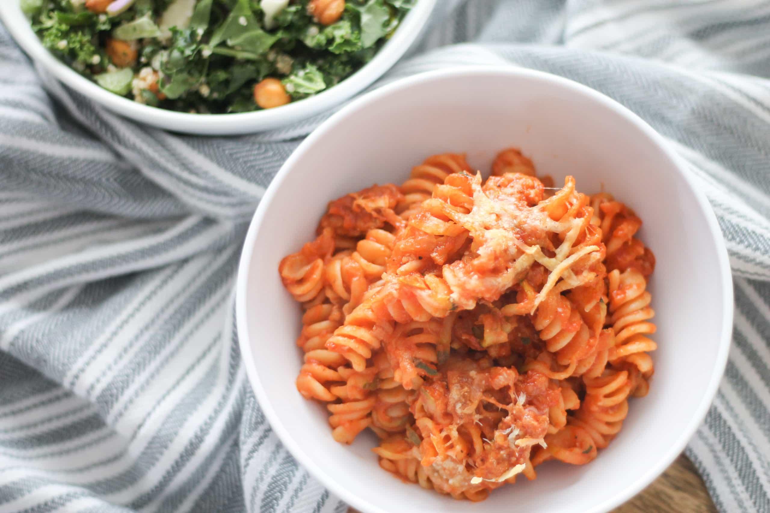 Sausage & Zucchini Pasta